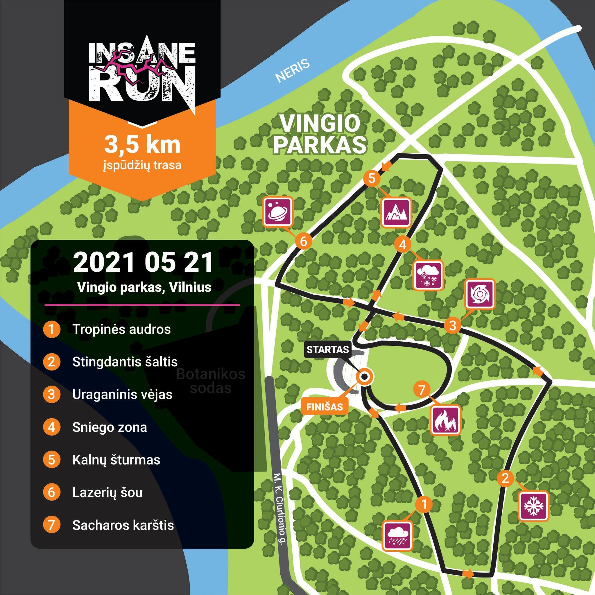 Trasa Insane RUN 2021